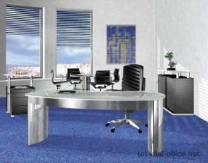 circon executive classic - Chefschreibtisch - Glas und Edelstahl