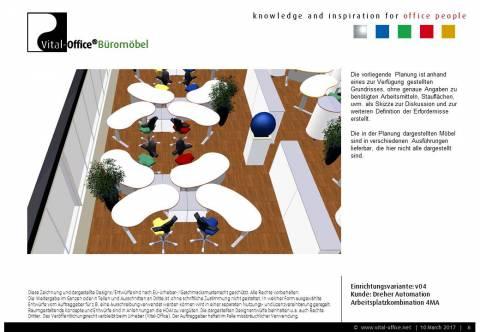 Büroplanung Dreher Automation für 27 Mitarbeiter