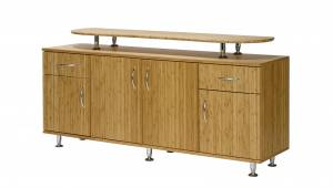Bambus Design Sideboard mit 2 Schubladen, Aufsatzplatte uvm. (Sitwell Lagerkollektion)