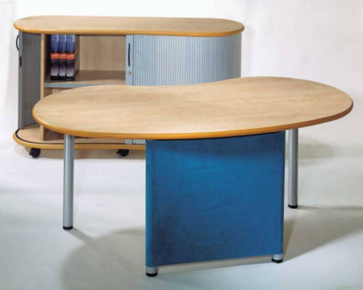 Schreibtische - infinity design e-style - Sichtschutz mit auswechselbarer Stoffhusse