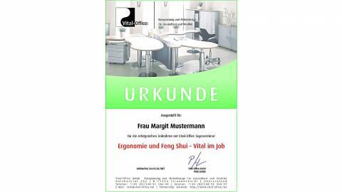 23.11.2007 - Tagesseminar Ergonomie und Feng Shui - Vital im Job