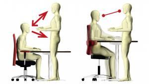Sattel Stühle und offene Sitzhaltung fördern Kommunikation und Kollaboration