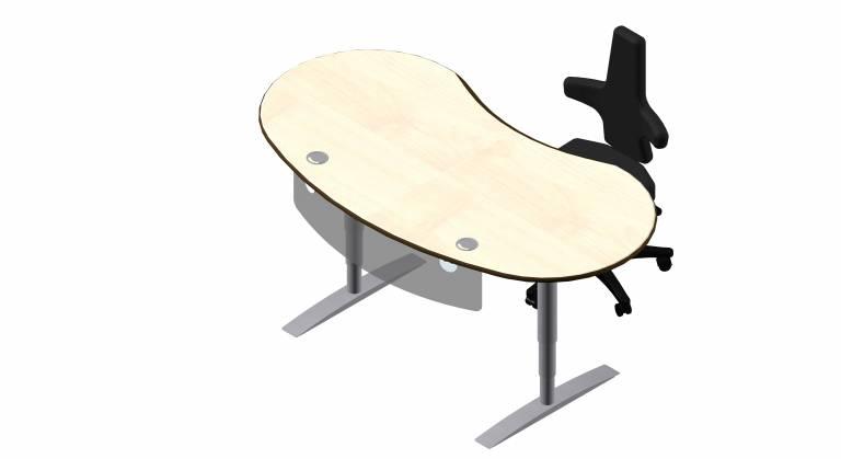 Steh sitz tische vital office for Schreibtisch rund
